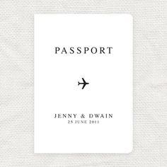 airplane wedding passport program cover by idoityourself on Etsy.... oh.my.goodness