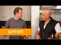 Chefs Bobby Flay and Michael Symon make Healthy Greek Lamb with Quinoa on this episode of #BobbyFlayFit.