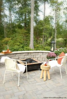 Fall Patio Decor for Entertaining - Celebrations at Home