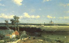 J.H. Weissenbruch, Gezicht op Haarlem, 1845-1848, olieverf op paneel, 23,2 x 34,1 cm, Gemeentemuseum Den Haag