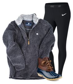 """""""Because I'm in my favorite place in the whole world!!"""" by cammie0825 ❤ liked on Polyvore featuring NIKE, Sperry Top-Sider, women's clothing, women, female, woman, misses and juniors"""