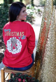 Can't get enough of this sweet southern 'Merry Christmas Y'all' tee --> Find this in stores & online NOW! #shopPD