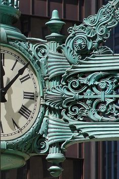 Chicago landmark... Marshall Field's Great Clock ~ Chicago, Illinois