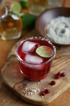 Sparkling pomegranate margarita