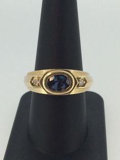 Natural 1.3ct Alexandrite And Diamond Ring In 14k Y. Gold! - Collection #9818 #Any