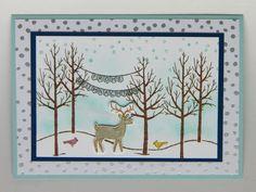 """""""Weiße Weihnacht""""-skarte mit Schneegestöber   http://eris-kreativwerkstatt.blogspot.de/2014/10/weie-weihnacht-skarte-mit-schneegestober.html"""