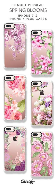 30 Most Popular Spring Blooms Protective iPhone 7 Cases and iPhone 7 Plus Cases. More Floral iPhone case here > https://www.casetify.com/collections/top_100_designs#/?vc=4wFLsCAVki