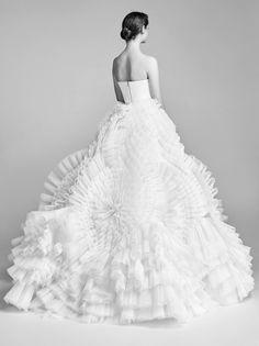 Wedding Dress: Courtesy Viktor & Rolf - http://www.stylemepretty.com/portfolio/courtesy-viktor-and-rolf Photography: Marijke Aerden - www.marijkeaerden.com/   Read More on SMP: http://www.stylemepretty.com/2017/04/25/viktor-rolf-spring-2018-bridal-week/