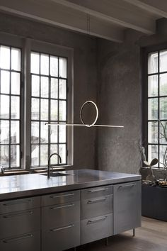 Nowhere is great contemporary lighting in demand more than your kitchen. Whether you're preparing meals on the counter, helping your kids with homework at the kitchen table, or enjoying breakfast with your family, you'll need a variety of quality lighting Dining Table Lighting, Dining Nook, Kitchen Lighting, Modern Pendant Light, Modern Chandelier, Modern Lighting, Lighting Design, Minimal Kitchen, Flush Ceiling Lights