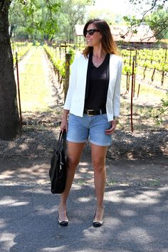 One Trend, Two Generations: Denim Shorts | The Rich Life (on a budget)