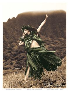 Pacifica Island Art Primitive Hula - Hawaiian Hula Dancer - Original Hand Colored Photograph by Alan Houghton - Hawaiian Master Art Print - 13 x -- Check out this great product. (This is an affiliate link) Hawaiian Dancers, Hawaiian Art, Tarzan, Kia Ora, Hawaii Mountains, Polynesian Dance, Polynesian Islands, Polynesian Culture, Islas Cook