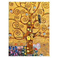 Ölgemälde Ausschnitt aus Baum des Lebens von Gustav Klimt - Größe 80 x 60 cm, yourPainting - Tipps vom Einrichter