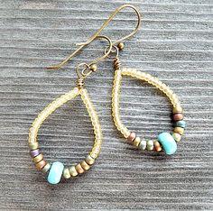 Tutorial for June's seed bead earrings.
