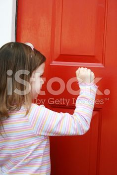 Knocking royalty-free stock photo