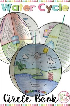 Engage your students while teaching them about the water cycle during your weather unit with this fun foldable circle book! Students can complete optional circles about evaporation, precipitation, condensation, clouds, and much more with this science activity! $