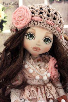 Fabric doll / Коллекционные куклы ручной работы. Ярмарка Мастеров - ручная работа. Купить Полина. Handmade. Бледно-розовый, кукла текстильная, хлопок