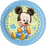 Baby Mickey 23cm Paper Party Plates