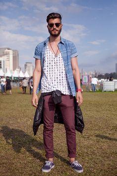 d2dd3fe2f L:C Summer Music Festival Essentials Plum pants + layered top + cardigan  wrapped around waist
