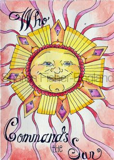 Scripture Art Who Commands the Sun Scripture by SFisherEngland