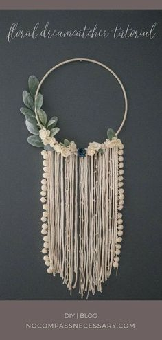 DIY Floral Wall Hanging Dreamcatcher