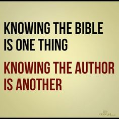 Knowing the bible...