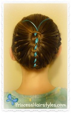 Butterfly hairstyle tutorial