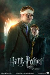 Fred and George - Deathly Hallows Extended by HogwartSite on DeviantArt Posters Harry Potter, Harry Potter Twins, Arte Do Harry Potter, Harry Potter Pictures, Harry Potter Cast, Harry Potter Fandom, Harry Potter Characters, Harry Potter World, Familia Weasley