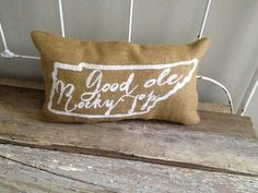 University of Tennessee burlap pillow Good by TwoPeachesDesign, $28.00