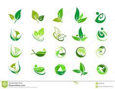 Leaf logo,nature green ecology and wellness people,beauty spa,symbol icon set of vector designs Icon Design, Web Design, Vector Design, Logo Design, Logo Biologique, Modelo Logo, Plant Logos, Wood Logo, Organic Logo