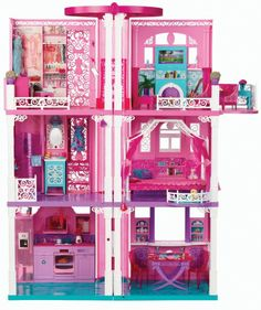 Barbie 3-Story Dream Townhouse Furniture  Accessories TOY DOLL HOUSE Girls Play #MATTEL