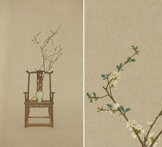 Sun Jun - Photography of New Literati painting Chinese Prints, Japanese Prints, Japanese Art, Modern Chinese Interior, Asian Paints, Korean Art, China Art, Chinese Embroidery, Chinese Culture