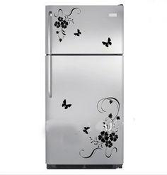 Sisustustarra, joka on erityisesti suunniteltu jääkaappiin. Tuo persoonallista näköä jääkaappiin, pakastimeen, astianpesukoneeseen tai kodin muihin kaappeihin. Sisustustarra on helppo kiinnittää ja irrottaa. Pakkauksessa kukkaköynökset sekä perhoset.     Koko: isompi köynnös 30cm x 49cm, pienempi 24cm x 19cm