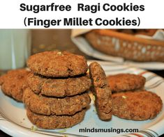 Sugarfree Ragi Cookie Recipe | Finger Millet Cookie Recipe