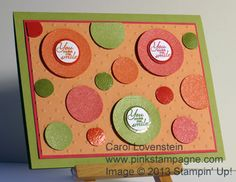 July Card Class – A Round Array (Part 2 of 5) Check out Pinkstampagne Posts for details