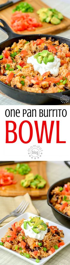 One Pan Burrito Bowl recipe, delicious and easy, this one pan recipe makes you a pro in the kitchen