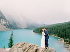Moraine Lake Anniversary Session | Calgary Wedding Photographers | Banff Wedding Photography | Engagement Session | Rocky Mountains