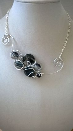 Aluminium wire necklace  Modern jewelry  by LesBijouxLibellule