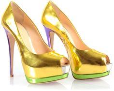 ~~Metallic Colourblock Heels - Giuseppe Zanotti - wow!~~