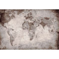 Diy mod podge canvas map diy mod podge canvases and walls world map photo wallpaper vintage retro motif xxl world map mural wall gumiabroncs Gallery