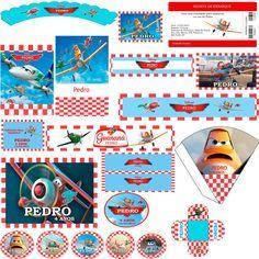 Kit Festa Digital Aviões Disney