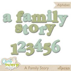 A Family Story alpha freebie from Quirky Twerp #scrapbook #digiscrap #scrapbooking #digifree #scrap