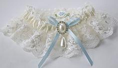 Bride's Garter in Imported French Chantilly by GartersByGarterLady, $35.00