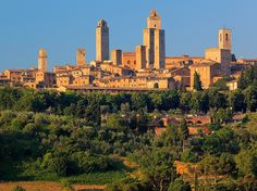 And here....San Gimignano, Italy...only if my sister will learn its pronunciation!