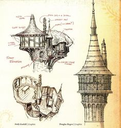 rapunzel's tower concept art - Google Search
