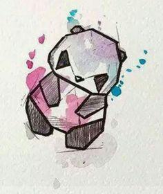 Watercolor art, art drawings и watercolor paintings. Pencil Art Drawings, Art Drawings Sketches, Easy Drawings, Watercolor Drawing, Painting & Drawing, Watercolor Paintings, Geometric Drawing, Geometric Art, Wallpaper Fofos