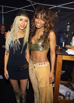 Christina Aguilera and Janet Jackson