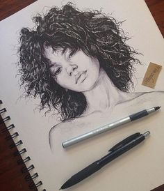 really cool drawings Amazing Drawings, Beautiful Drawings, Cool Drawings, Pencil Drawings, Drawing Faces, Girl Face Drawing, Amazing Artwork, Woman Drawing, Realistic Drawings