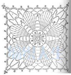 Resultado de imagen para flower of life crochet doily patterns Filet Crochet, Art Au Crochet, Grannies Crochet, Crochet Diagram, Crochet Home, Thread Crochet, Crochet Stitches, Crochet Motif Patterns, Crochet Blocks