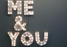 """Shining bright! 'Me & You Show Sign', photo by Marc Horowitz, via Flickr (27/03/2008). This was the sign for the """"Me & You"""" talk show M. Horowitz did at the Hayward in London."""