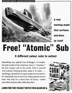 Free Atomic Sub in Kellogg's Corn Flakes  CRIVENS! COMICBOOKS, CARTOONS & CLASSIC COLLECTABLES!: DIVE! DIVE! DIVE! #ad #print #UK